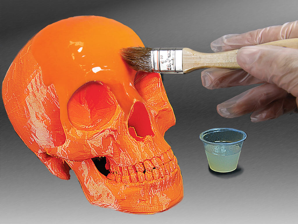 finitura stampa 3D co nresina epossidica