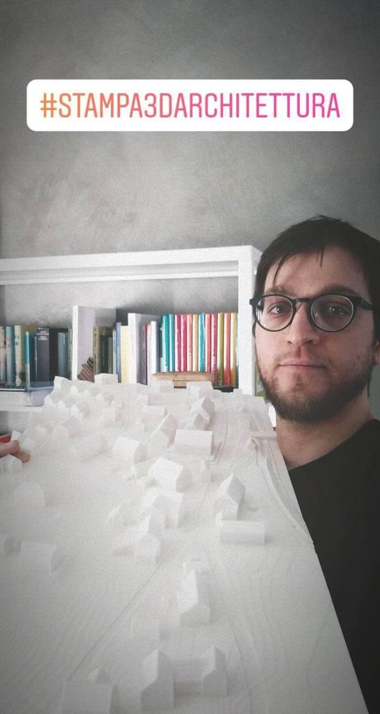 stampa 3d architettura plastico