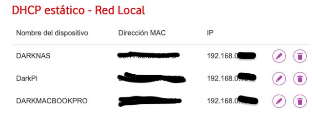 DHCP Estático