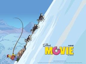 The Simpsons Movie Huskies in Alaska