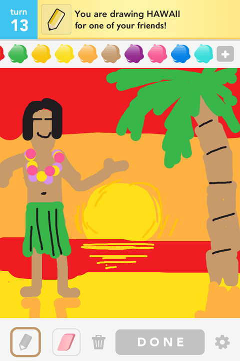 Draw Something - Hawaii