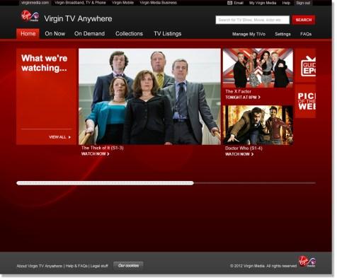 Virgin Media Online - Homepage