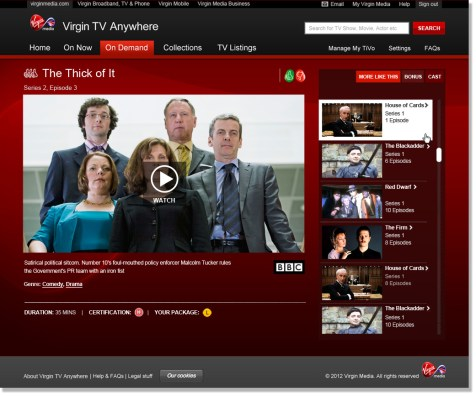 Virgin Media Online - Online On Demand