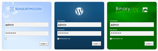 Wordpress Custom Login screen samples