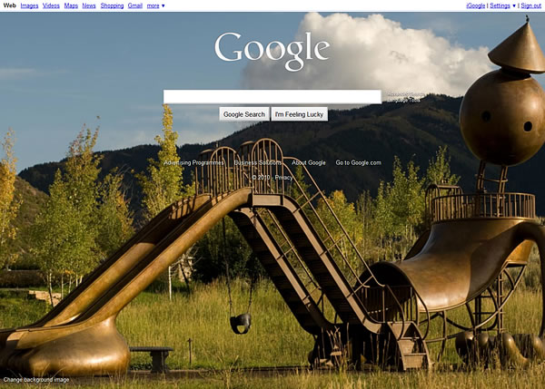Google Homepage Background Image