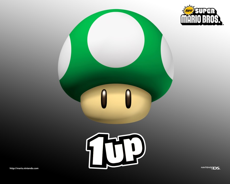 New Super Mario Brothers - 1up Mushroom