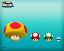 New Super Mario Brothers - Mushroom Powerups