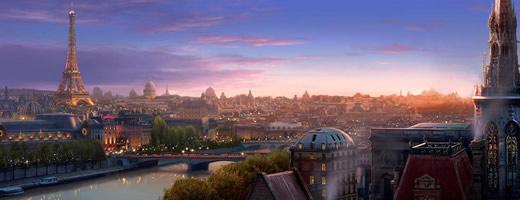 Ratatouille - Paris at night