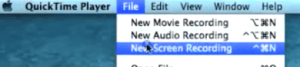 Quik Time Player new screen Recorder