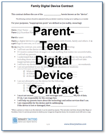 Why You Need a Family Device Contract  BinaryTattoo  Define your digital identity
