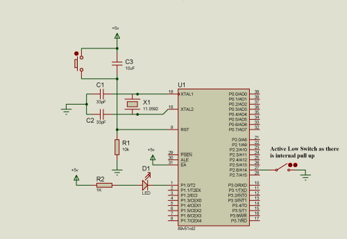small resolution of switch with 8051 microcontroller