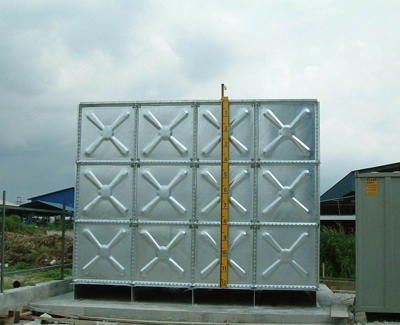 HotDipped Galvanised Tank  HDGI  Malaysia Water Tank Manufacturer  Pressed Steel Sectional