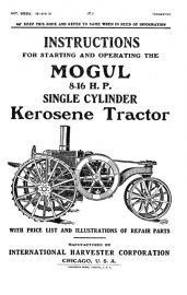 Binder Books: IH Early Tractor Manuals