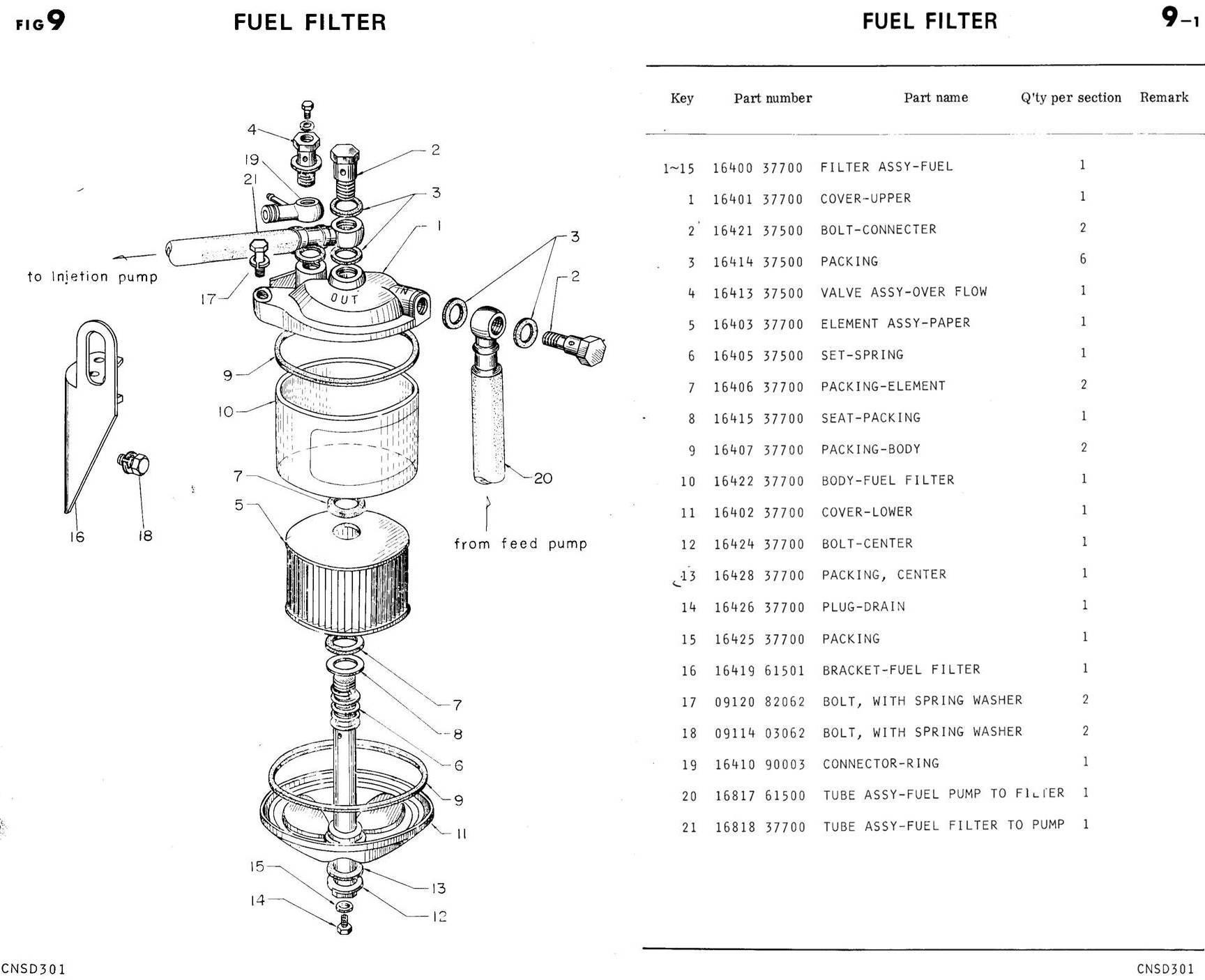 davco fuel filter check valve