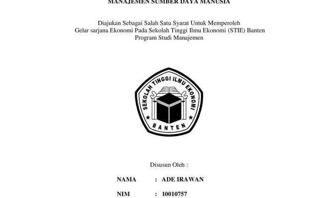 Contoh Proposal Skripsi Manajemen Sdm 4 Variabel