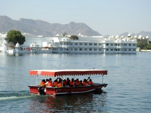 Boating at Pichola Lake in the backdrop of the Lake Palace