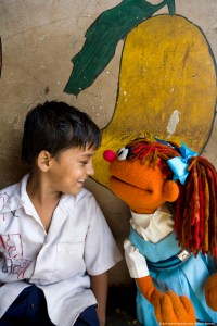 Chamki at one of the outreach programs