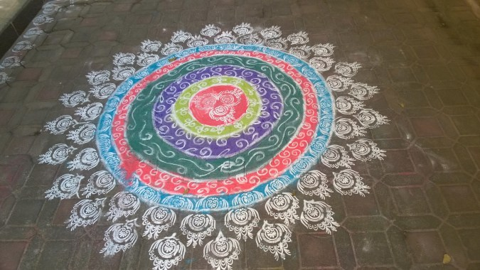 A beautiful Rangoli - an inextricable part of the Diwali festivities