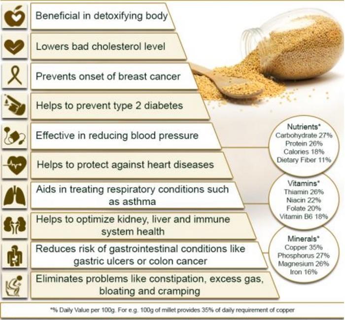 Source: https://www.organicfacts.net/health-benefits/cereal/health-benefits-of-millet.html