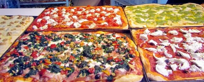 Pizzas in Bergamo