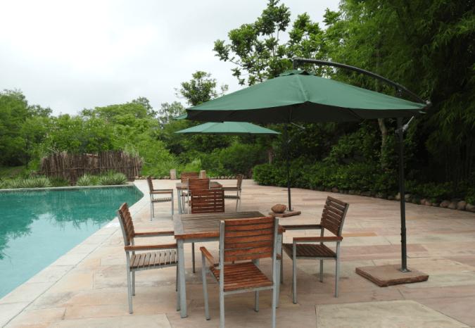 Pool side at Jehan Numa Retreat