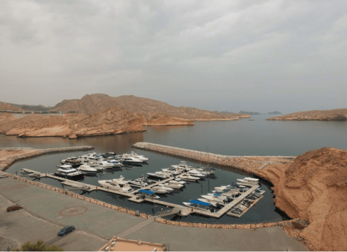 The view of the yatch at Barr Al Jissah
