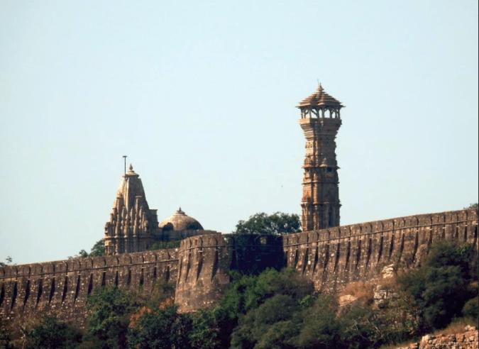 The walls of Chittorgarh fort
