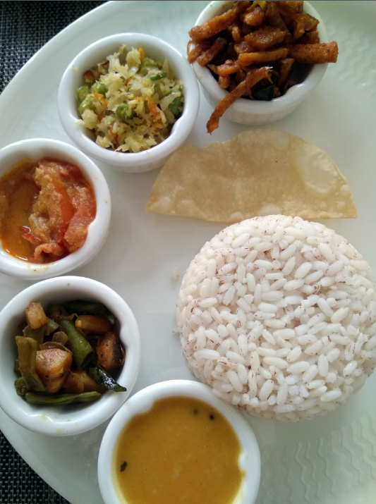 A traditional meal at Novotel Kochi Infopark