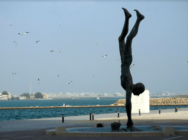 Sculpture outside the National Museum