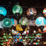 Traditional lamps in Souk