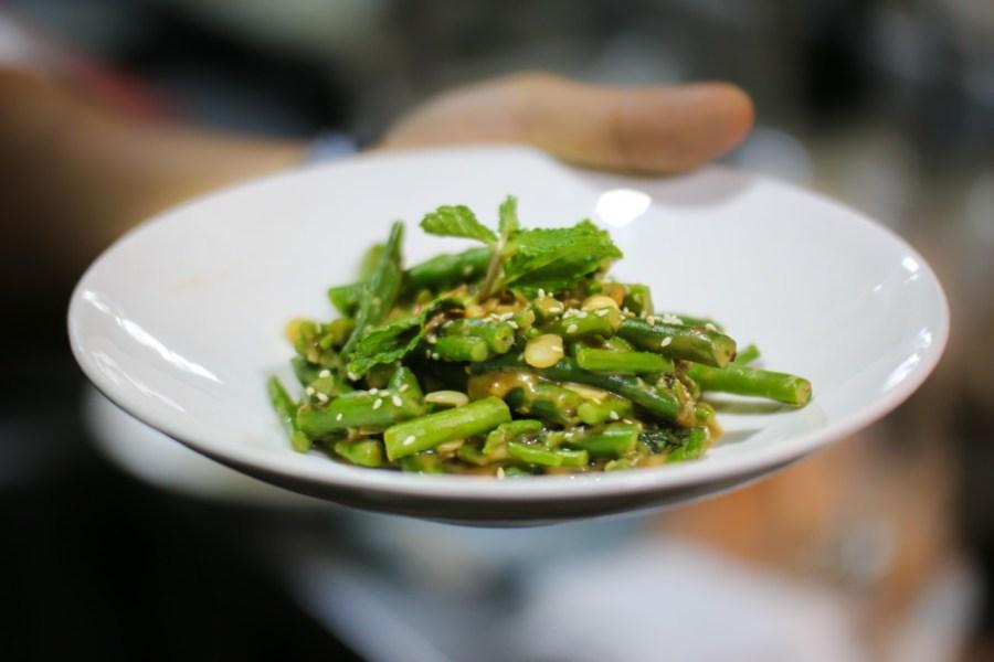 Warm Asparagus Avarekai and Green Beans - Toast & Tonic - Photo Courtesy Kunal Chandra