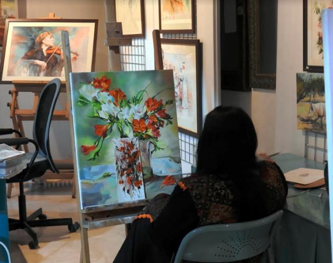 Artist in Souq Waqif