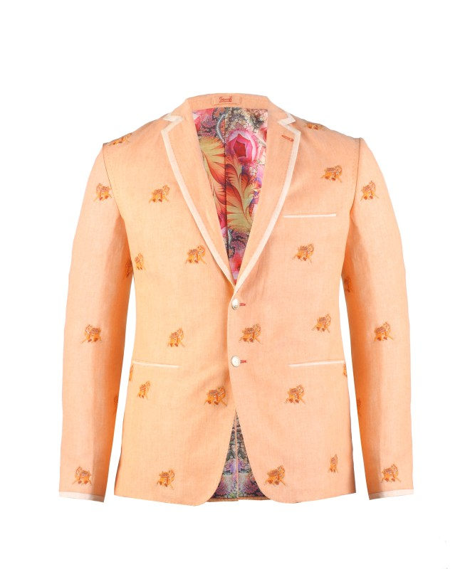 Figurative emroidered jacket- camel motif associated with wedding ceremonies from House of Sunil Mehra