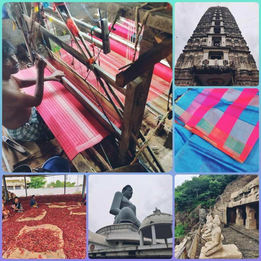 Amravati, Mangalgiri, Undavalli Caves and Guntur Chilli Market - experiences courtesy Novotel Vijayawada Varun