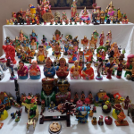 A display of dolls for Dasara