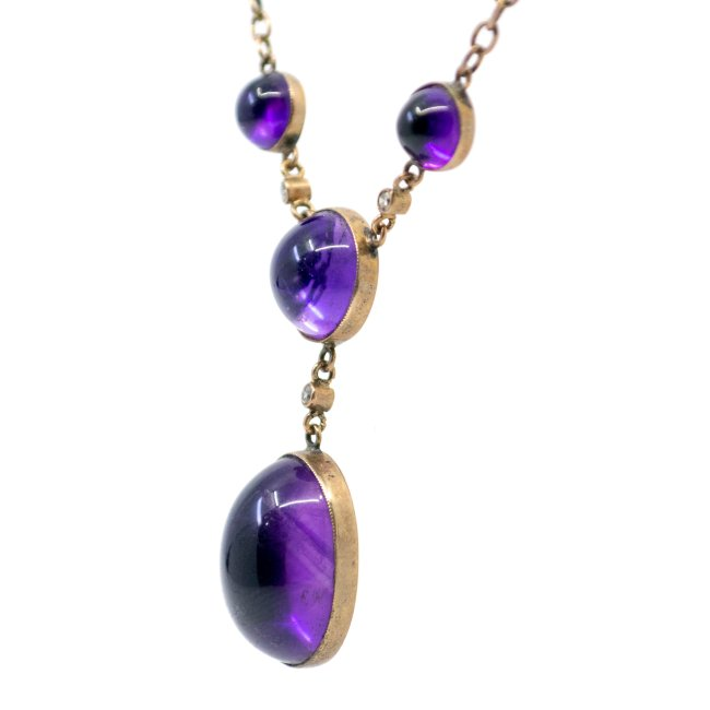Amethyst, Diamond, Gold Necklace 0971SY Image3