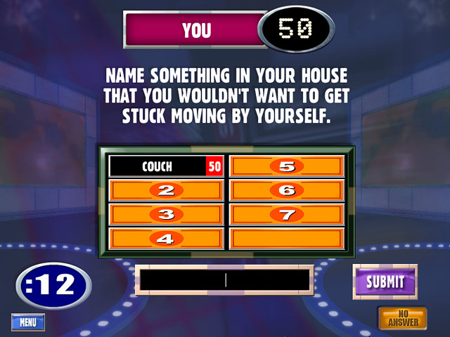 Family feud questions and answers