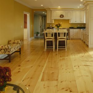 Eastern White Pine Flooring has a beautiful warm color and our Sawyers Cut Grade will contain knots of varying size and color.