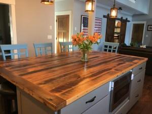 Reclaimed Antique Oak Island Top