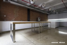 Reclaimed Vertical Grain Heart Pine Plank table tops