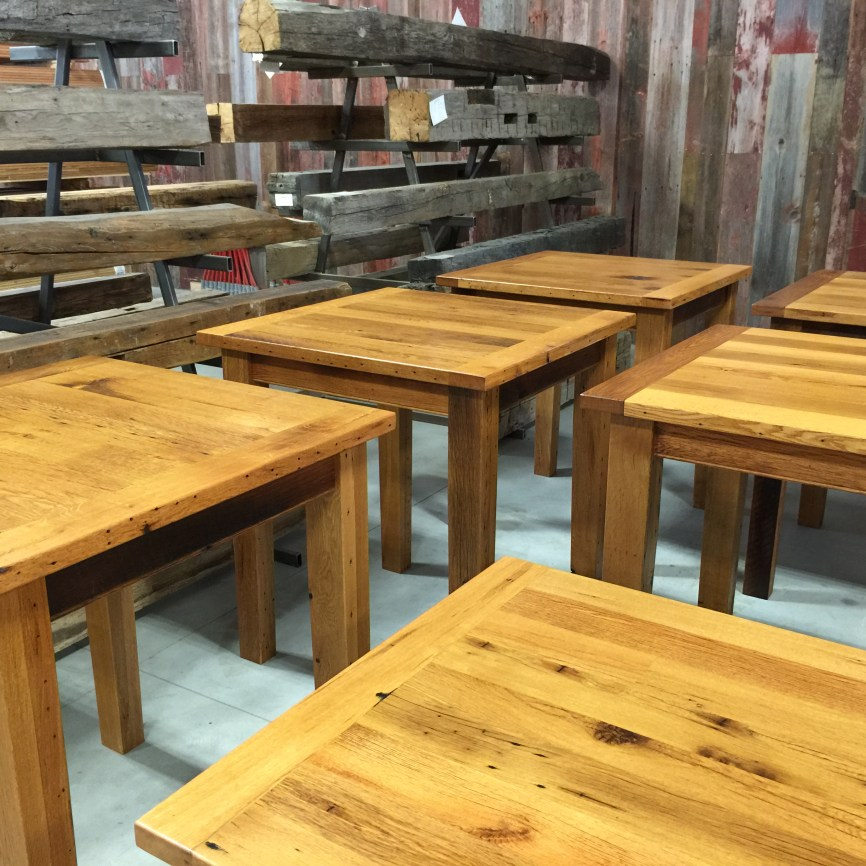 Custom reclaimed tables and islands bingham lumber for Local reclaimed wood