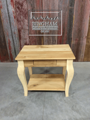 This is another reclaimed pine table. Very functional and beautiful.