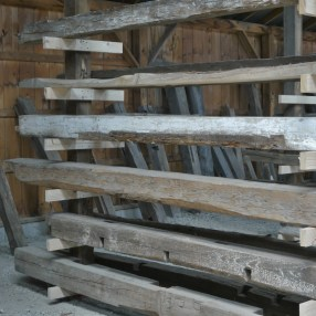 Reclaimed barn beams come in a variety of sizes, shapes and dimensions