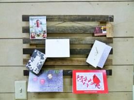 Reclaimed Wood Holiday Card Display