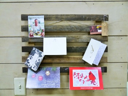 Reclaimed Wood Holiday Card Display
