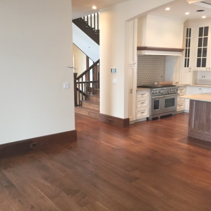 Wide Plank Dark Walnut Floors