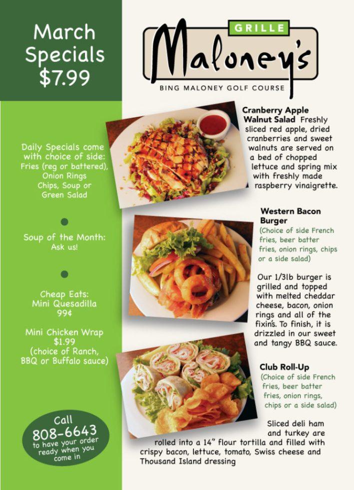 Bing March Food Specials