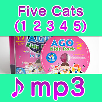 Five-Cats-(1-2-3-4-5) mp3 esl song