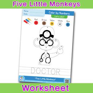Five Little Monkeys Free ESL Worksheet