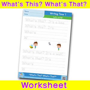 Whats this whats that worksheet - writing time 1